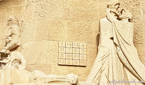 Gaudí's Sudoku. These numbers add up to 33 - the age of Jesus' death