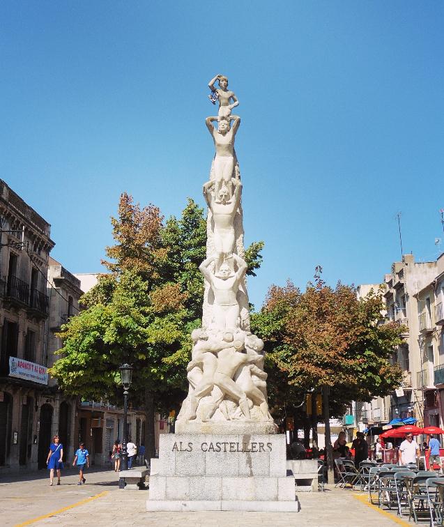 Casteller Monument at Vilafranca