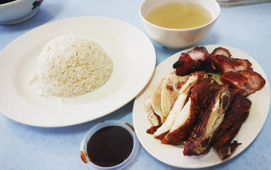 Char Siew & Roasted Chicken Rice