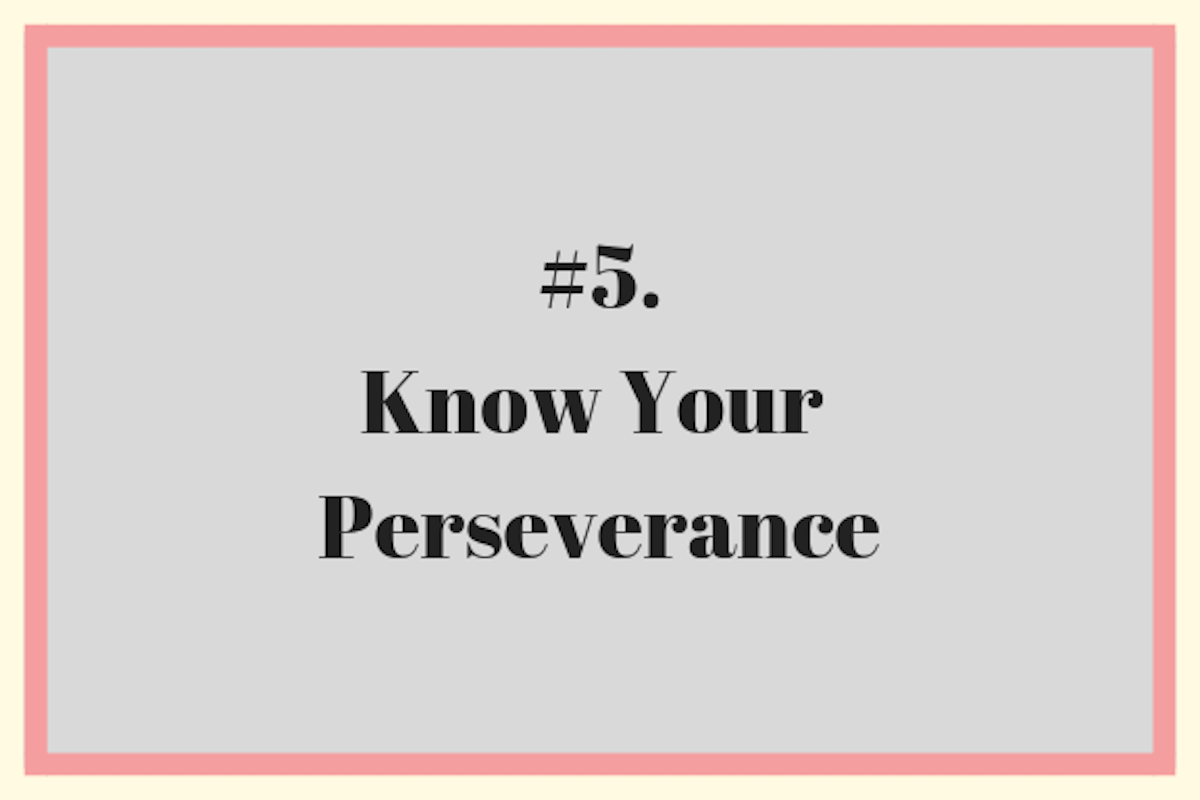 Know Your Perserverance